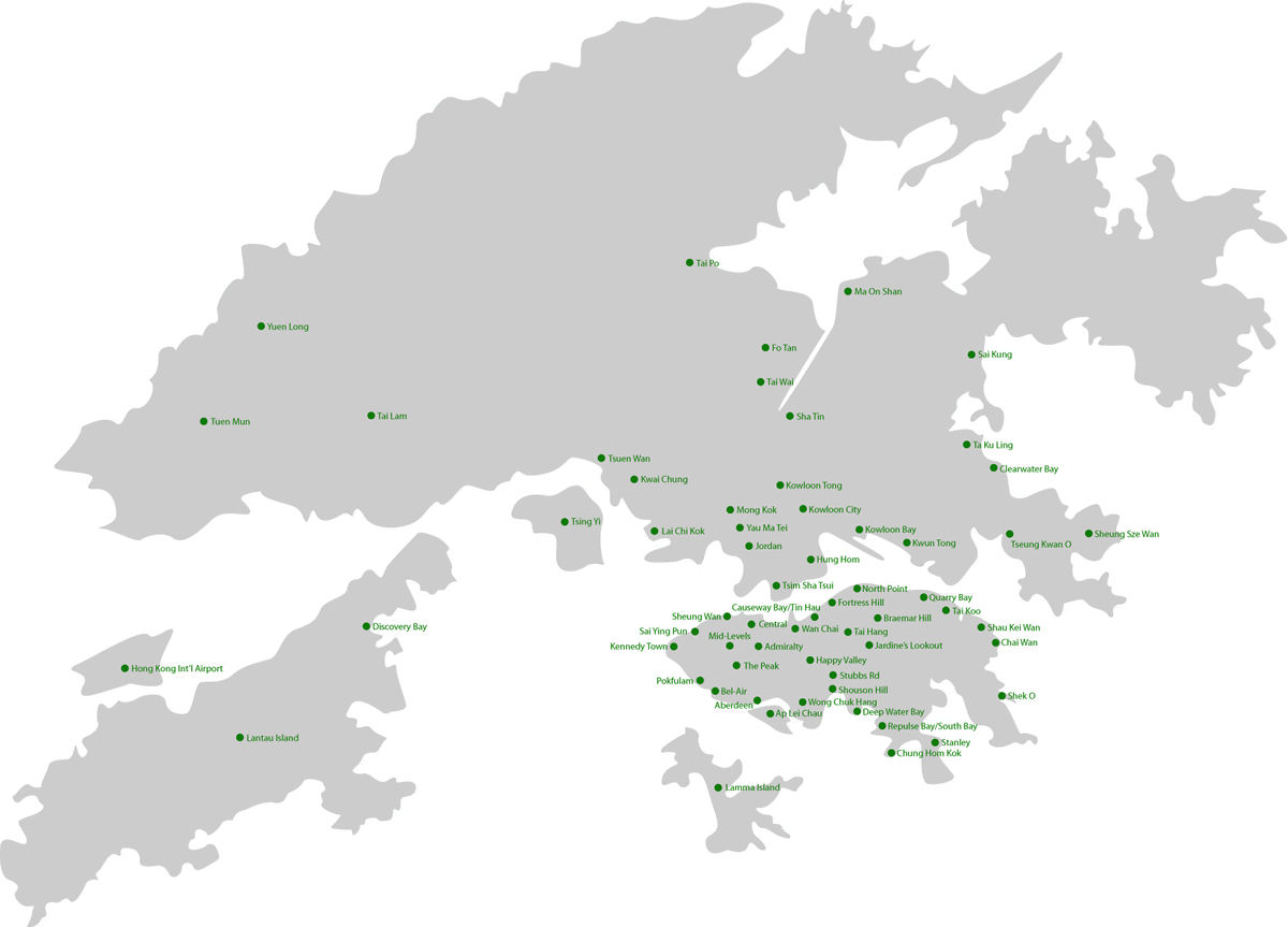 House Hunters Hong Kong Map